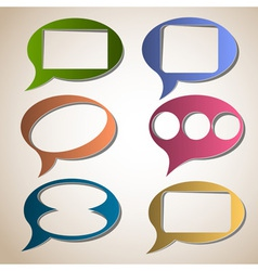 Creative speech bubbles vector image vector image