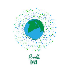 Earth day cartoon card vector