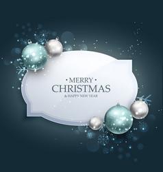 Elegant christmas celebration greeting card vector