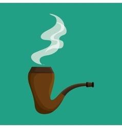 Elf smoking pipe icon vector