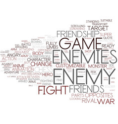 Enemy word cloud concept vector