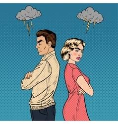 Family quarrel - unhappy young couple vector