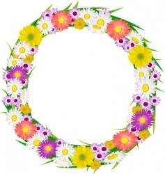 flower wreath vector image vector image
