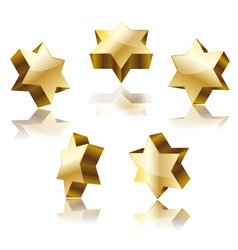 golden star of David vector image vector image