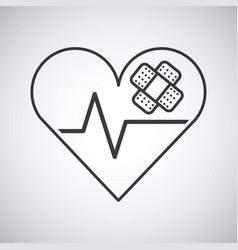 heart cardio icon vector image vector image