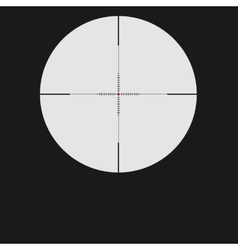 Isolated with sniper sight vector image