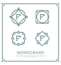 Letter f monogram vector