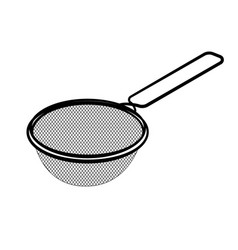 Line drawing of sieve -simple line vector