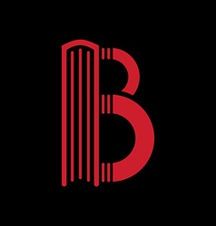 Logo templates of letter b book shape vector