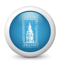 London Destination Glossy Icon vector image