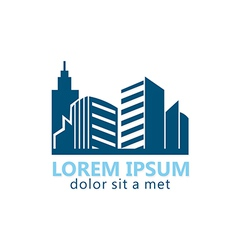 Modern building city logo vector