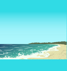Ocean and sand beach vector
