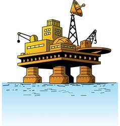 Oil Rig vector image vector image