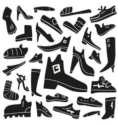 shoes doodles vector image