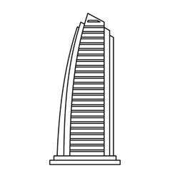 Skyscraper in dubai icon outline style vector