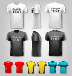t-shirts with sample text space vector image