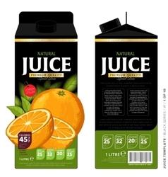 Template packaging design orange juice vector