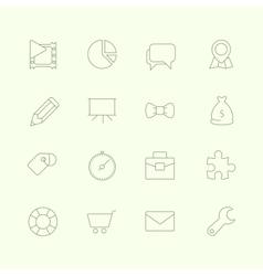 Thin SEO Icons Vol 2 vector image