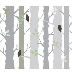 Tree owls vector