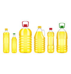 vegetable oil bottle plastic isolated vector image vector image