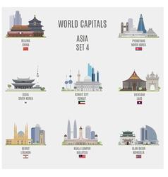 World capitals vector