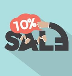 10 Percent Discount Typography Design vector image vector image