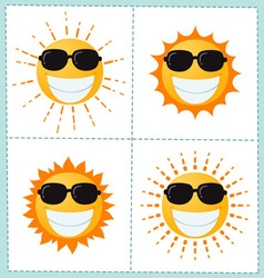 Sun icons collection vector