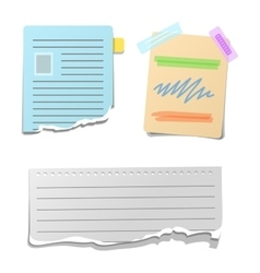 Sticker note paper vector