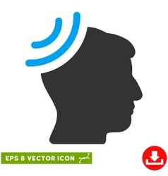 Radio reception brain eps icon vector