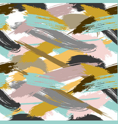 Colorful seamless pattern with splashes and blobs vector