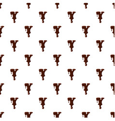 Letter y from latin alphabet made of chocolate vector