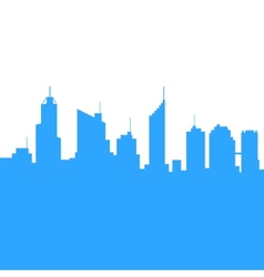 City skylines silhouette background vector