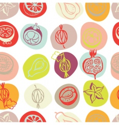 exotic fruits pattern vector image