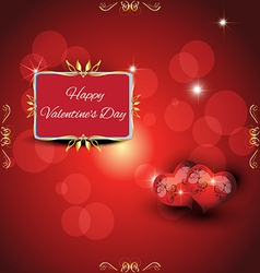Festive greeting card valentines day vector