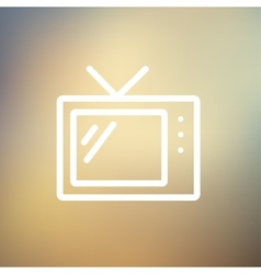Retro television thin line icon vector