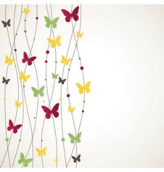 Ound with butterfly vector illustration vector