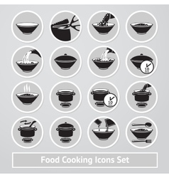 Set of cooking icons for instructions vector