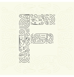 Letter f golden monogram design element vector