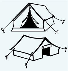 Set of canvas tents vector