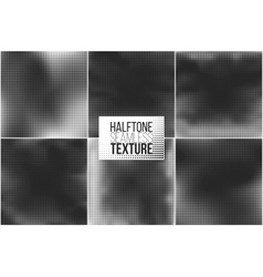 Set of 6 halftone seamless backgrounds vector
