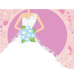 Abstract beautiful bride card vector