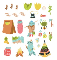 Summer adventure set vector