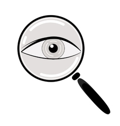 Eye in magnification flat icon vector