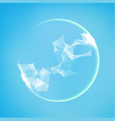 Abstract polygonal cyber sphere vector