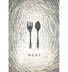art restaurant menu vector image vector image