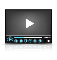 Black Video Player Interface vector image