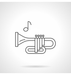Brass wind tune flat line icon vector image vector image