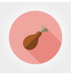 Chicken drumstick icon vector image