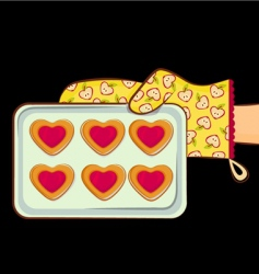 cookie heart shape vector image vector image