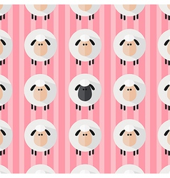 Cute Pink Sheep Wallpaper vector image